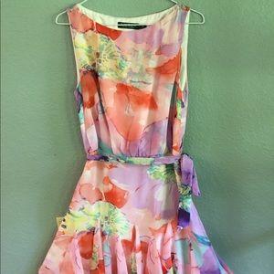 Ralph Lauren Women's Floral Flare Georgette Dress